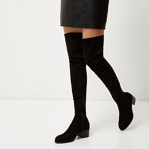 The River Island over-the-knee boots were hugely popular last year so make  sure you don't miss out! For a casual winter outfit, pair with black skinny  jeans ...
